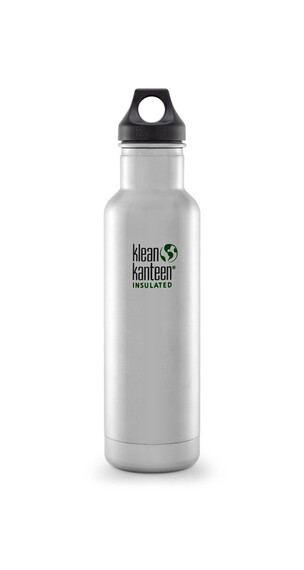 Klean Kanteen Classic Insulated Trinkflasche mit Loop Cap 592ml brushed stainless